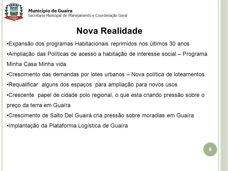 Município de Guaíra Secretaria Municipal de Planejamento e Coordenação Geral. Nova Realidade.