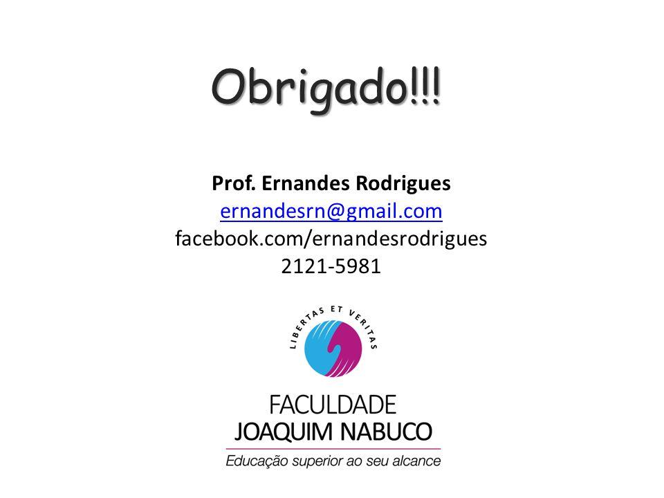 Prof. Ernandes Rodrigues