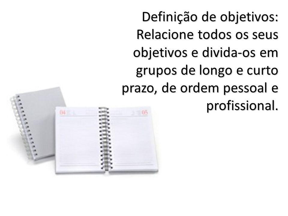 Definição de objetivos: