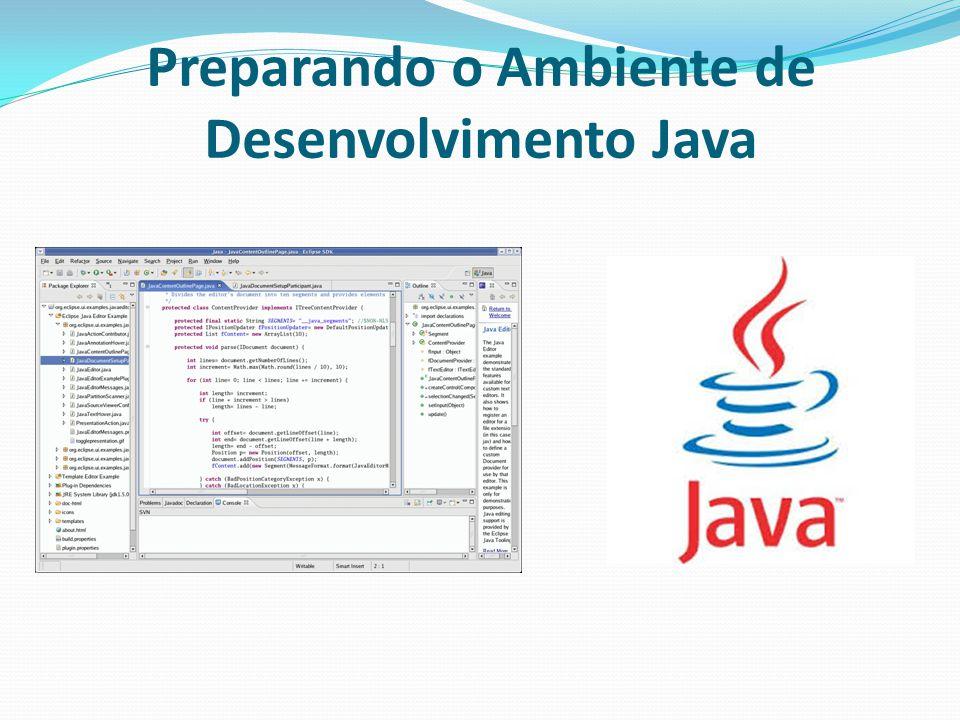 Preparando o Ambiente de Desenvolvimento Java