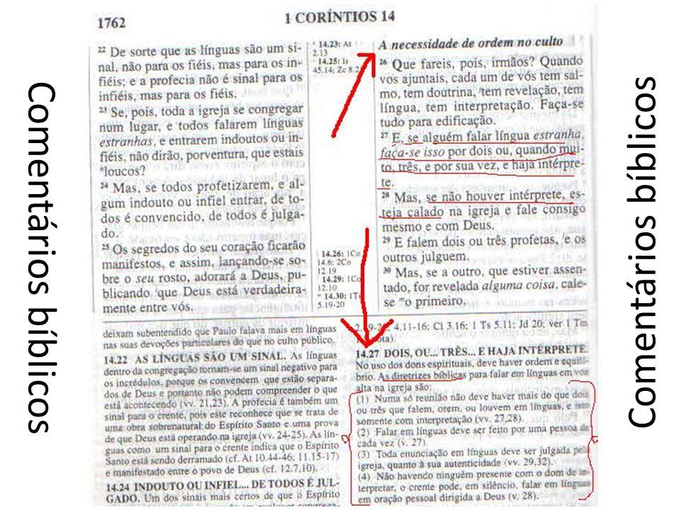Comentários bíblicos Comentários bíblicos