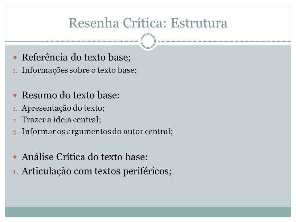 Resenha Crítica: Estrutura