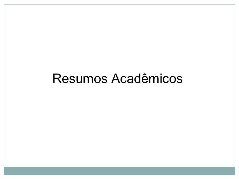Resumos Acadêmicos