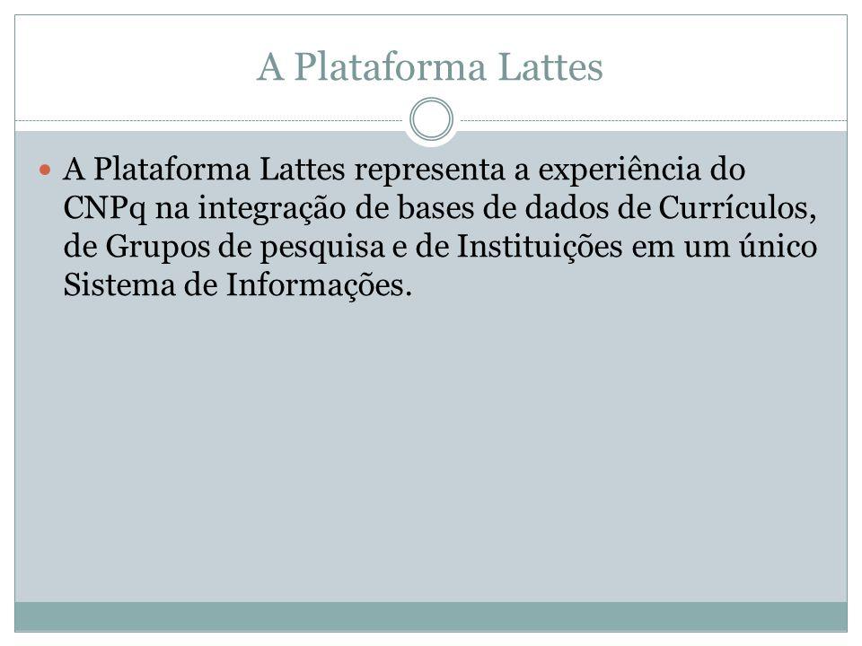 A Plataforma Lattes