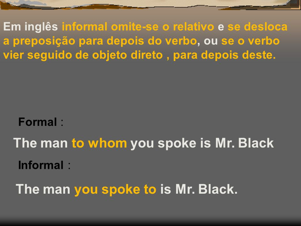 The man to whom you spoke is Mr. Black
