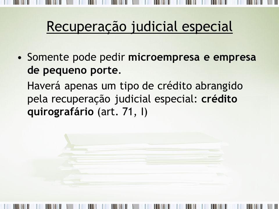 Recuperação judicial especial