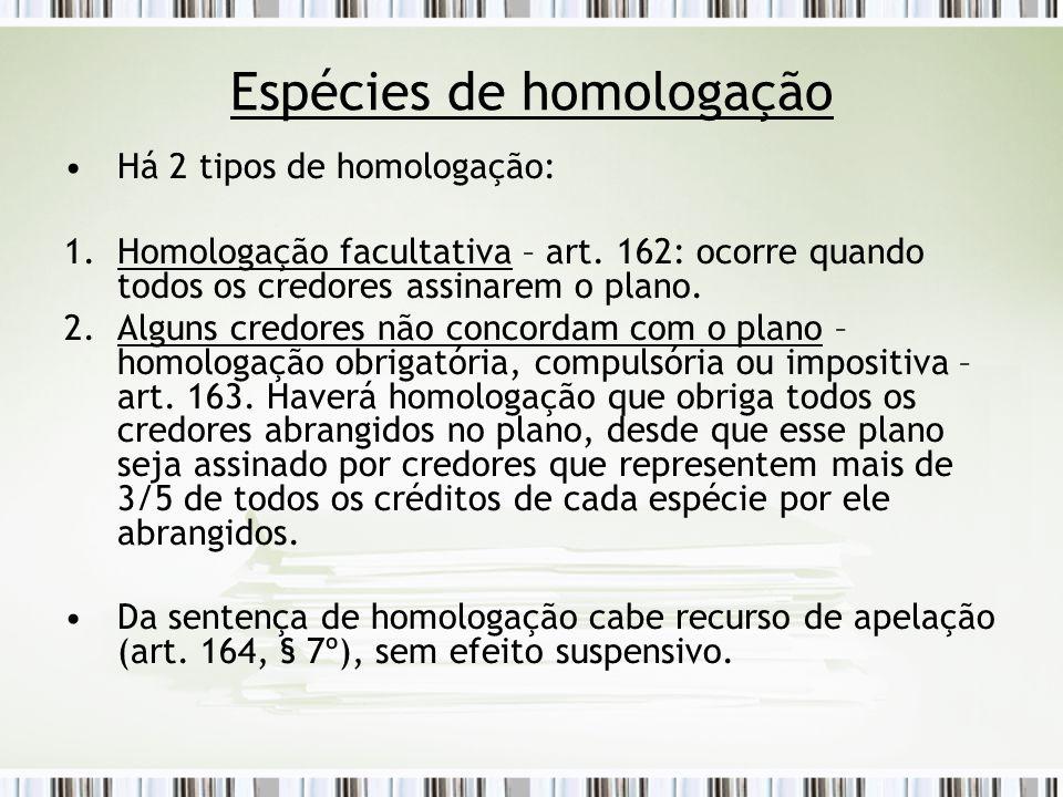 Espécies de homologação