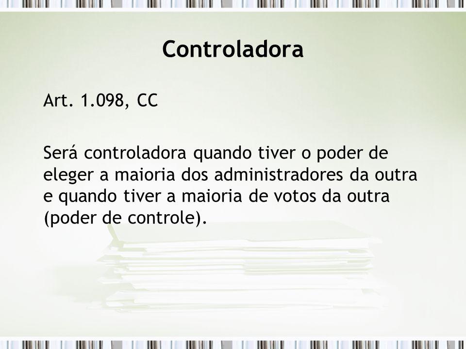 Controladora Art. 1.098, CC.