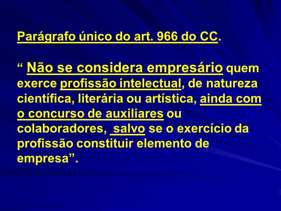 Parágrafo único do art. 966 do CC