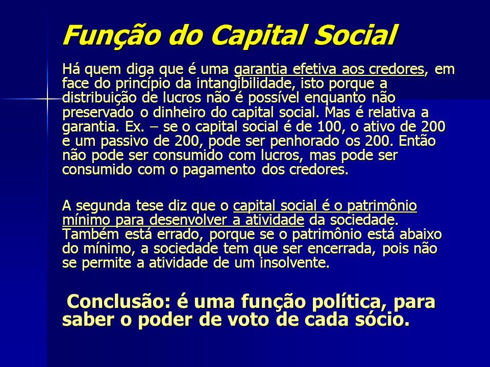 Função do Capital Social