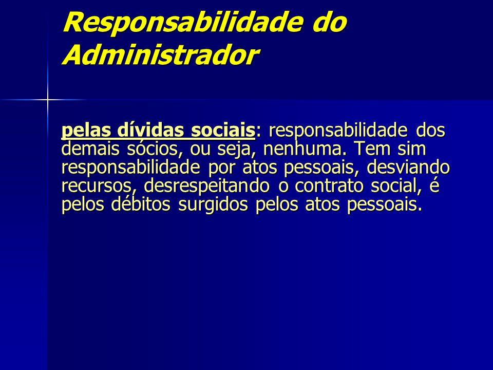 Responsabilidade do Administrador