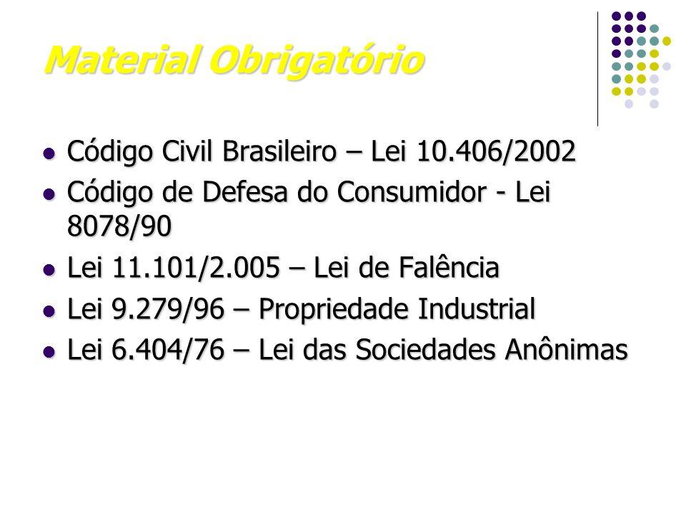 Material Obrigatório Código Civil Brasileiro – Lei 10.406/2002