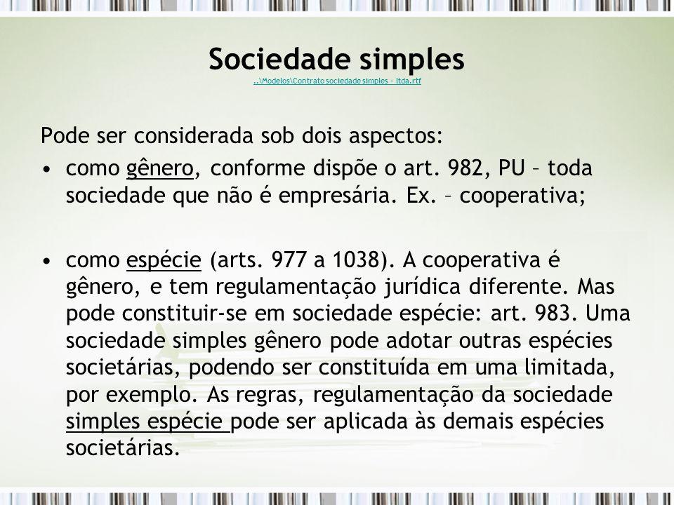 Sociedade simples ..\Modelos\Contrato sociedade simples - ltda.rtf