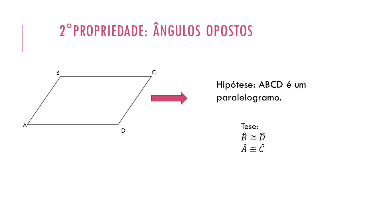 2°propriedade: ângulos opostos