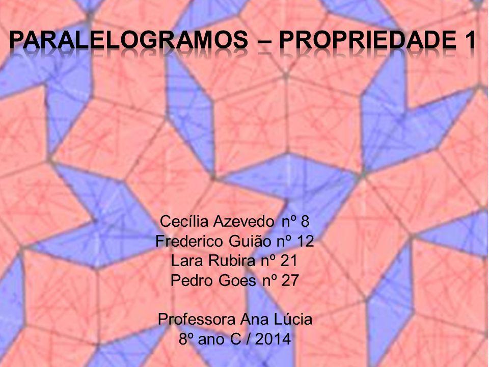 Paralelogramos – Propriedade 1