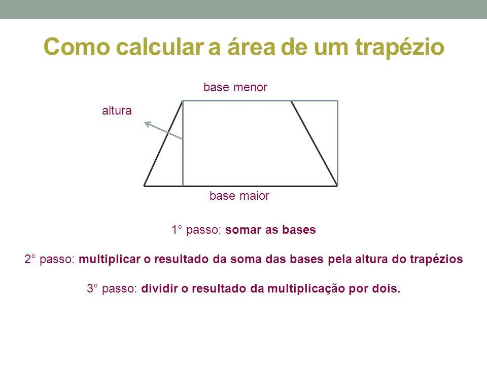 Como calcular a área de um trapézio
