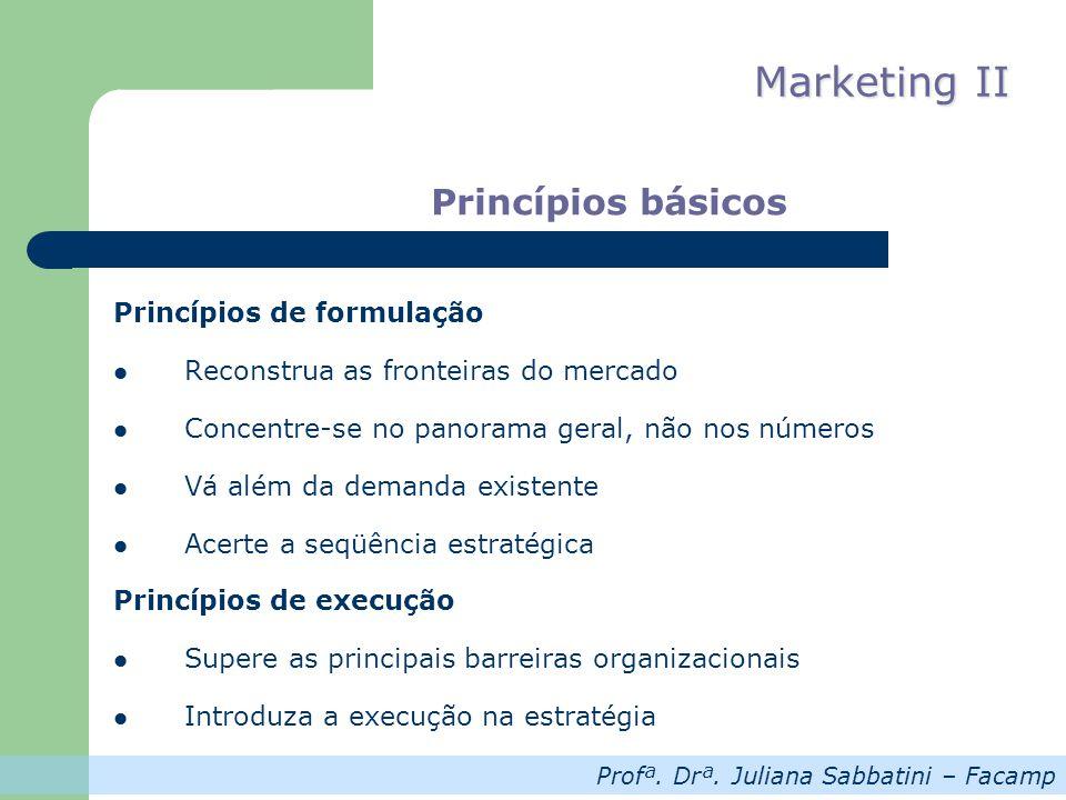 Princípios básicos Princípios de formulação