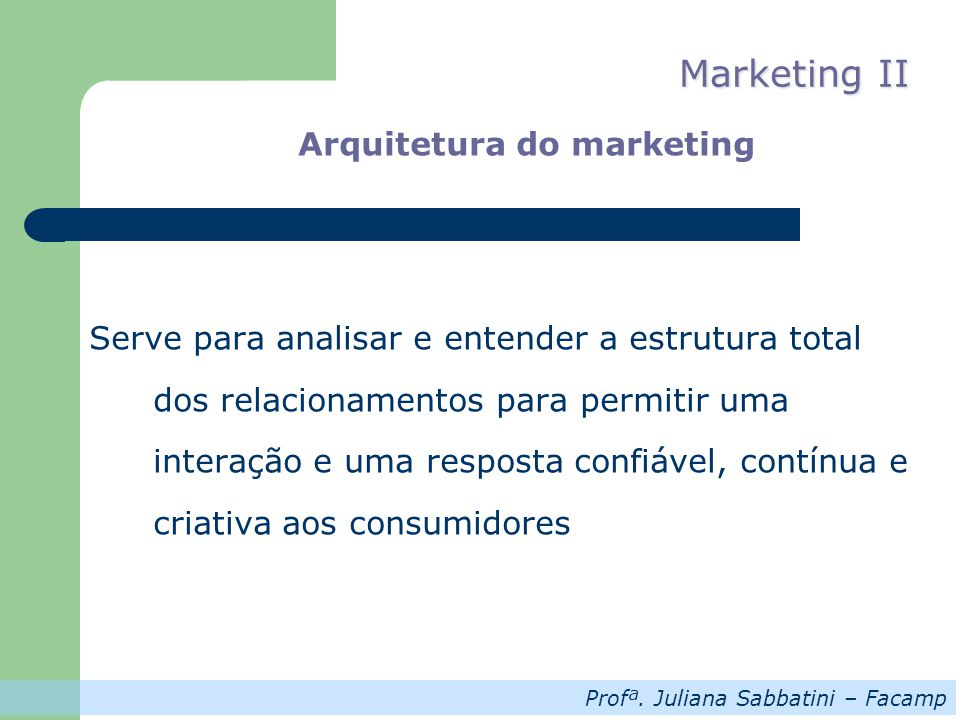 Arquitetura do marketing