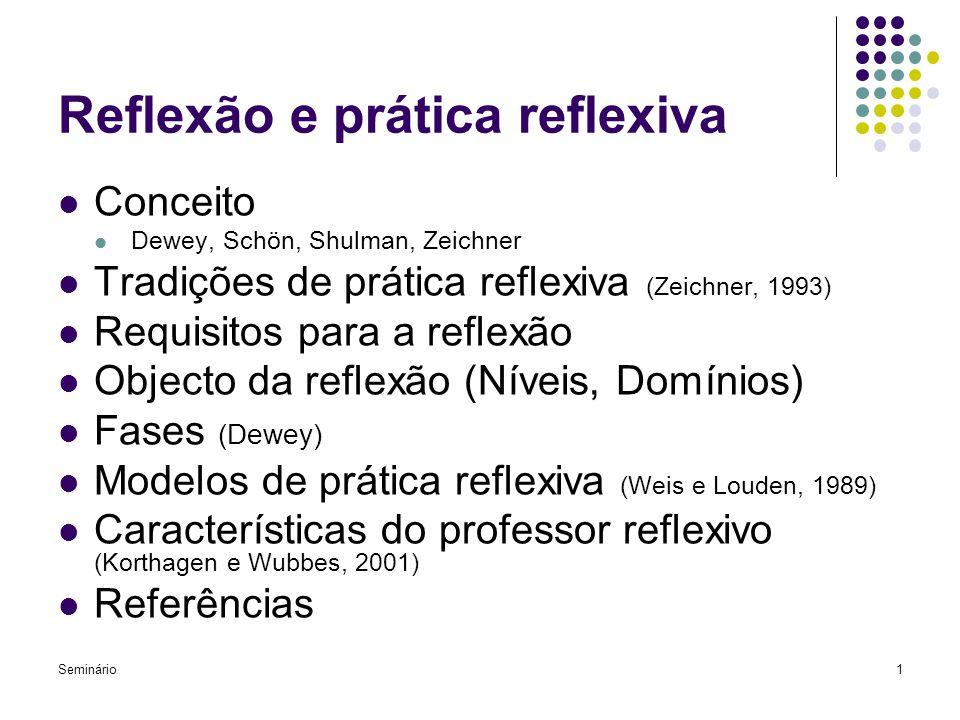 Reflexão e prática reflexiva
