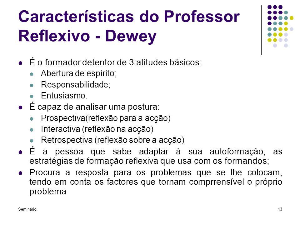 Características do Professor Reflexivo - Dewey