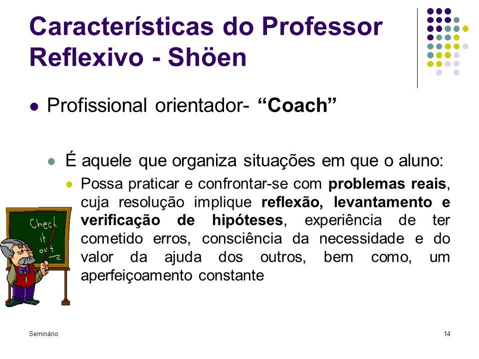 Características do Professor Reflexivo - Shöen