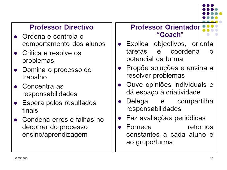 Professor Orientador Coach