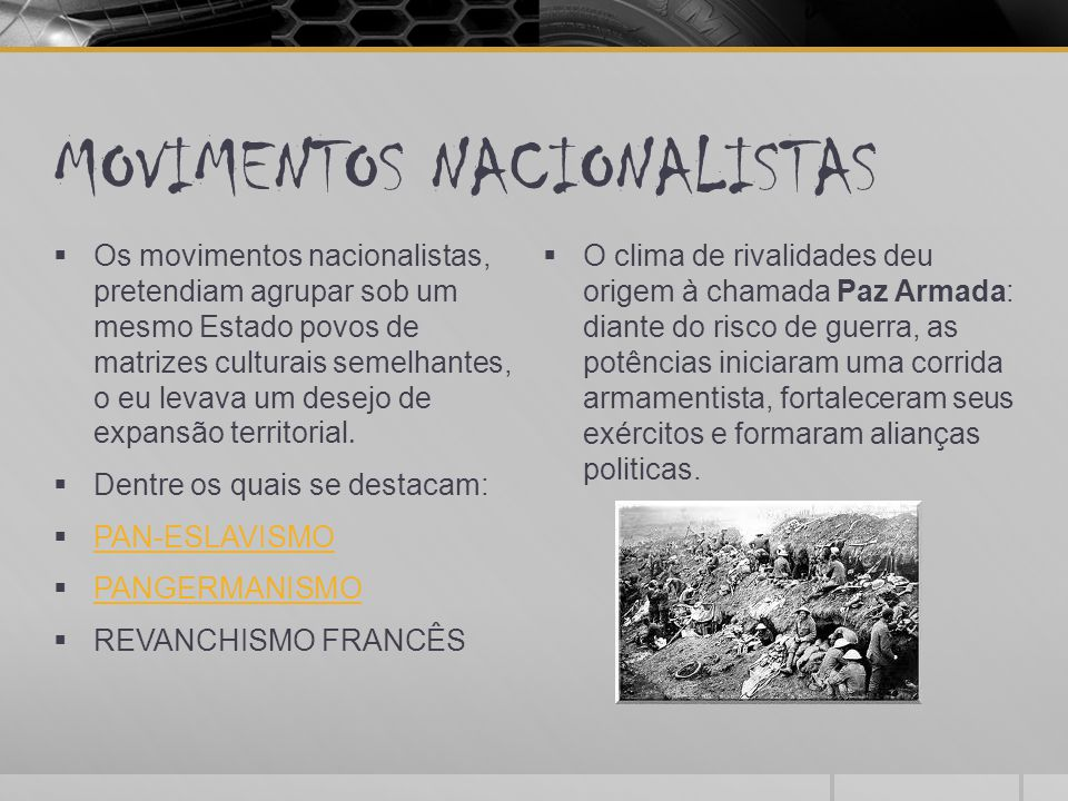 MOVIMENTOS NACIONALISTAS