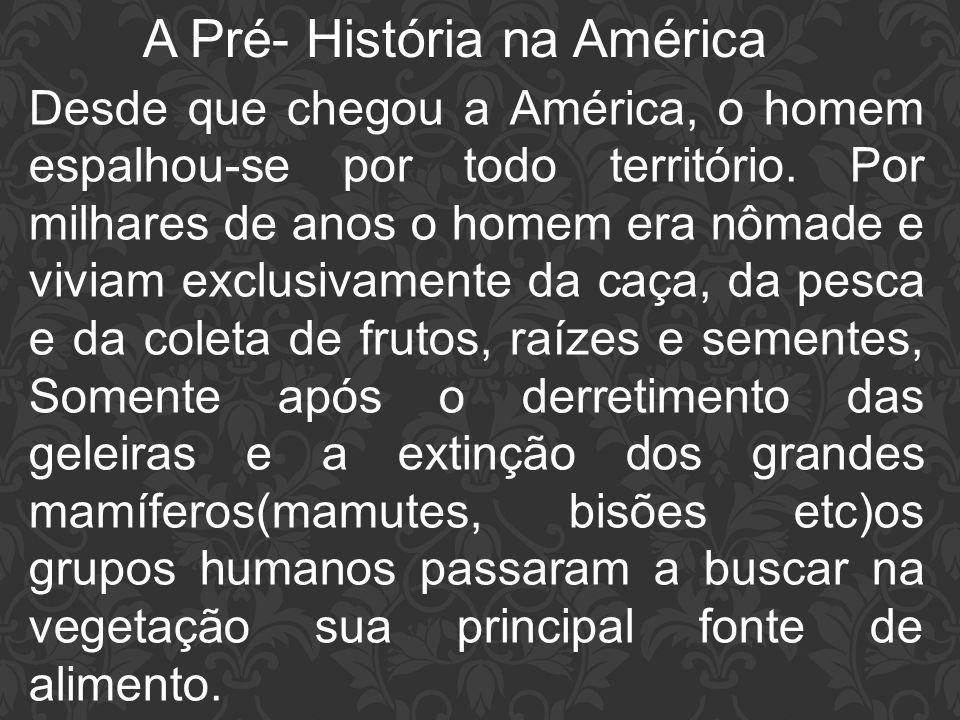 A Pré- História na América