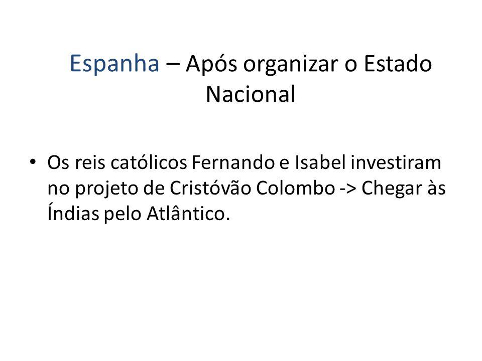Espanha – Após organizar o Estado Nacional