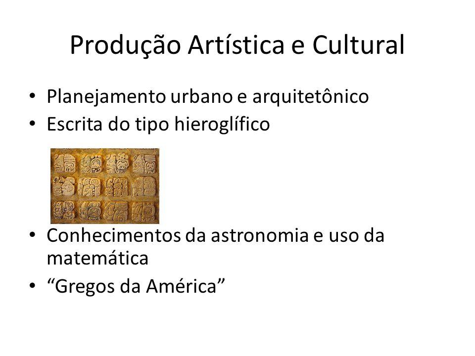 Produção Artística e Cultural