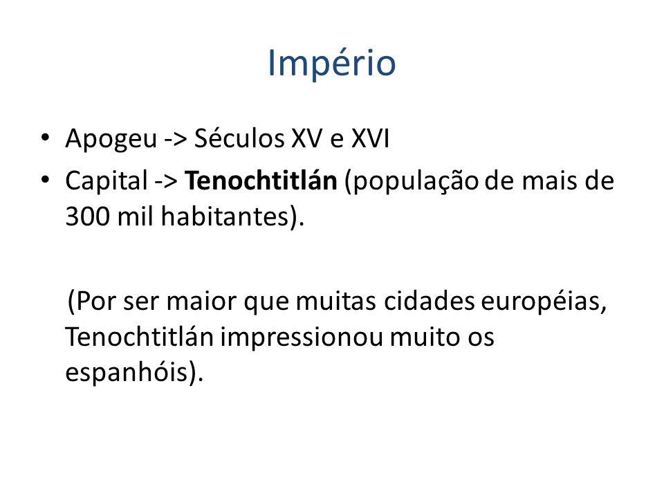 Império Apogeu -> Séculos XV e XVI