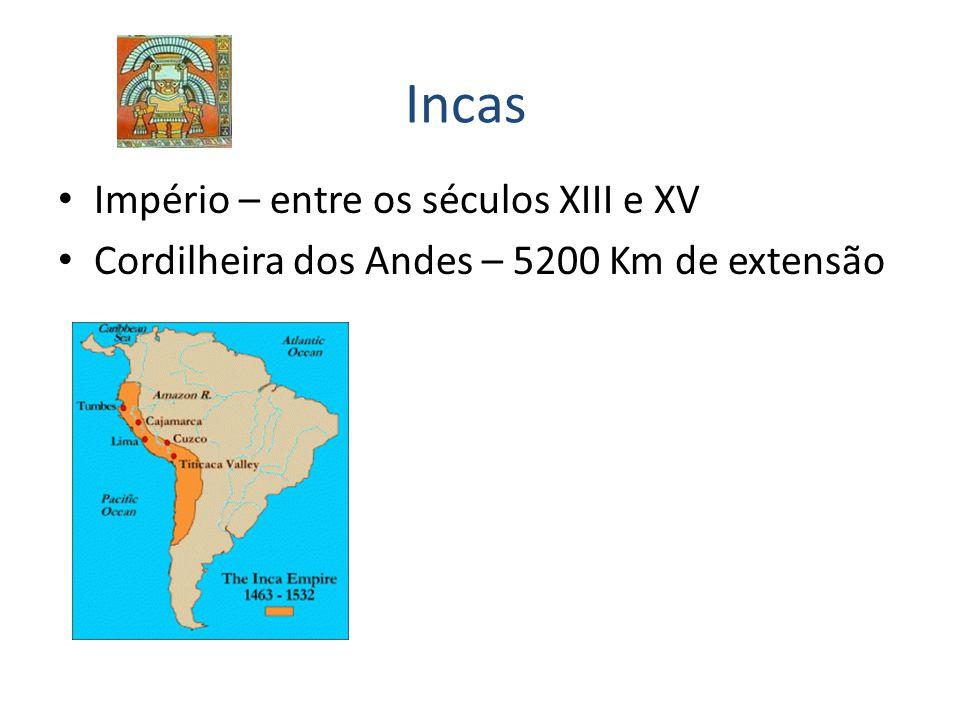 Incas Império – entre os séculos XIII e XV