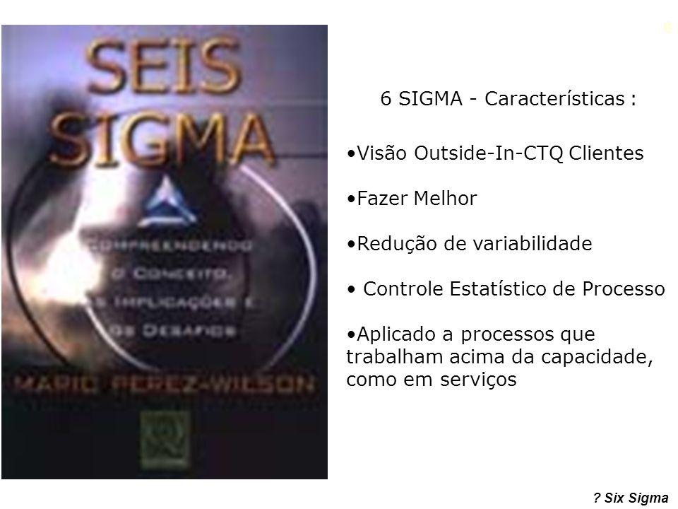 6 SIGMA - Características :