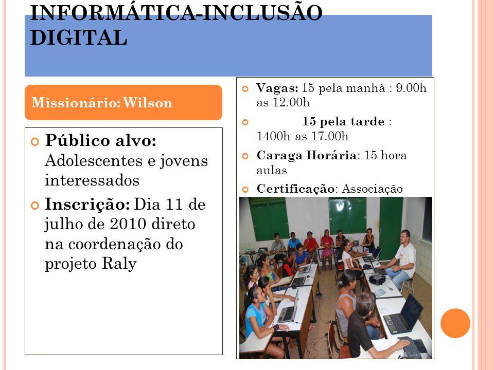INFORMÁTICA-INCLUSÃO DIGITAL