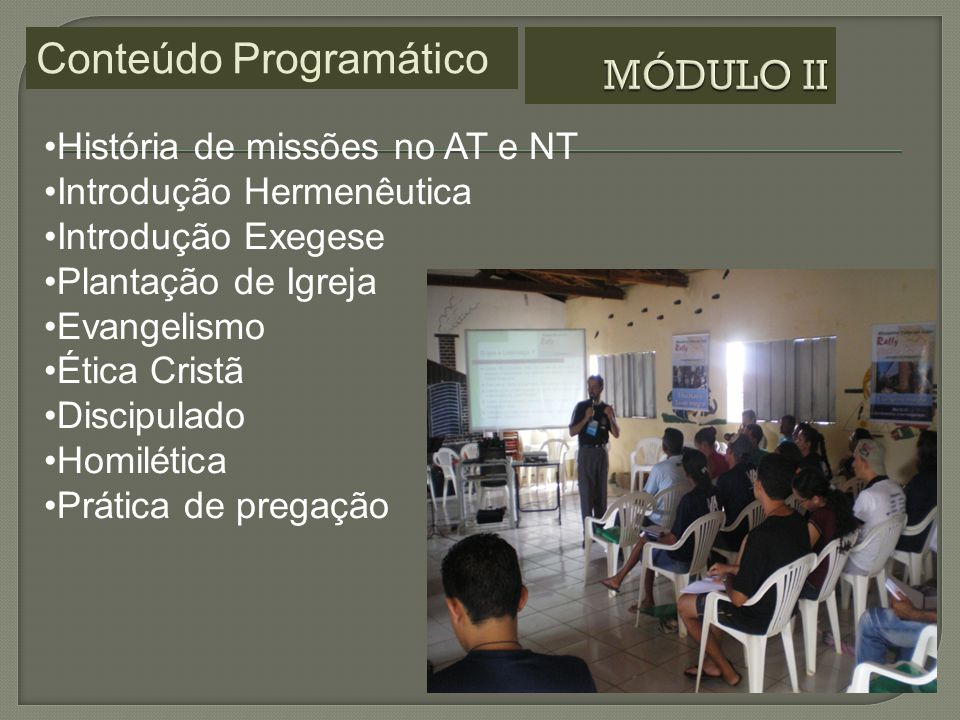 Conteúdo Programático MÓDULO II
