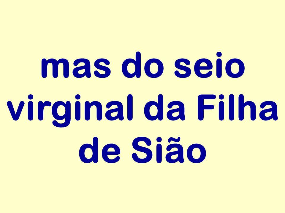 mas do seio virginal da Filha de Sião