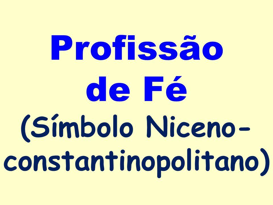 Profissão de Fé (Símbolo Niceno-constantinopolitano)