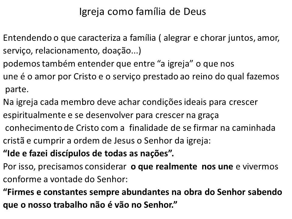 Igreja como família de Deus