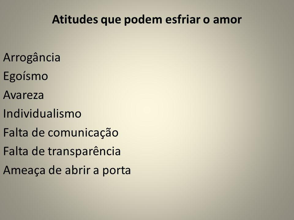 Atitudes que podem esfriar o amor