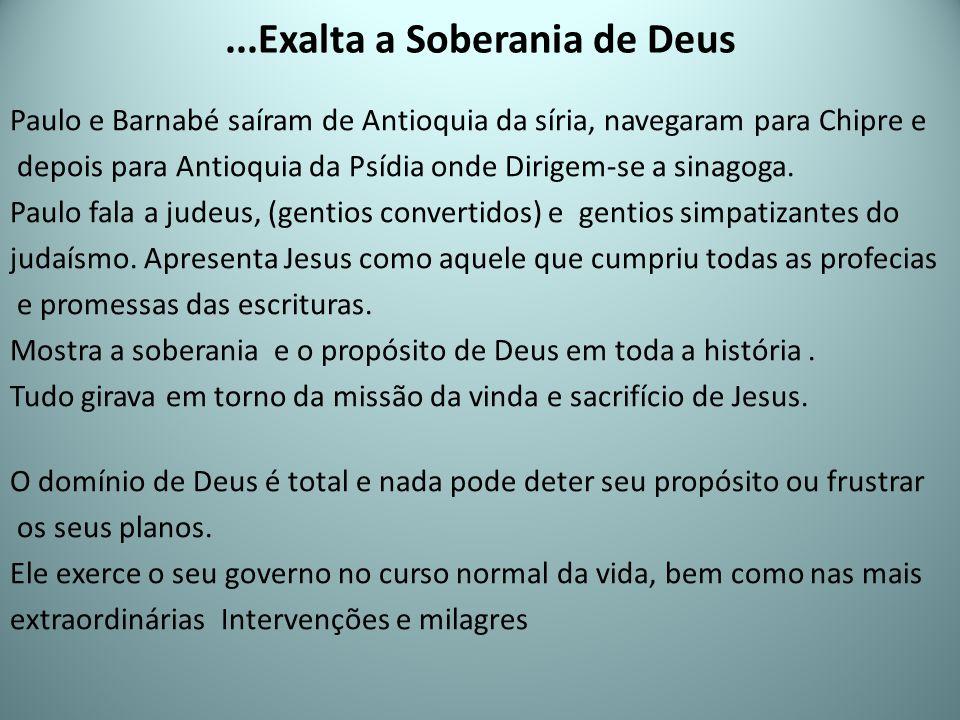 ...Exalta a Soberania de Deus