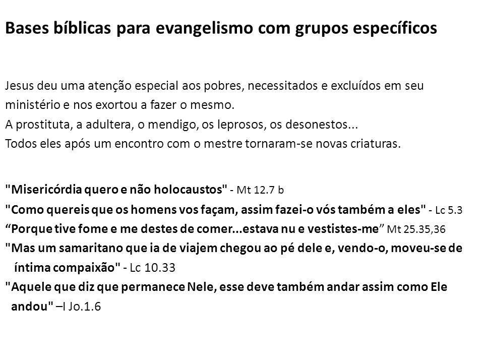 Bases bíblicas para evangelismo com grupos específicos