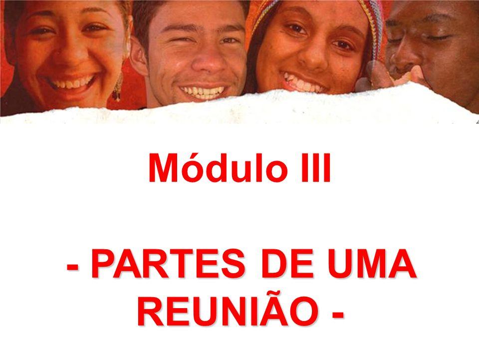 - PARTES DE UMA REUNIÃO -