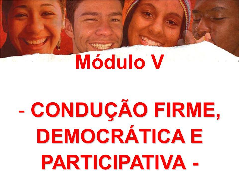 DEMOCRÁTICA E PARTICIPATIVA -