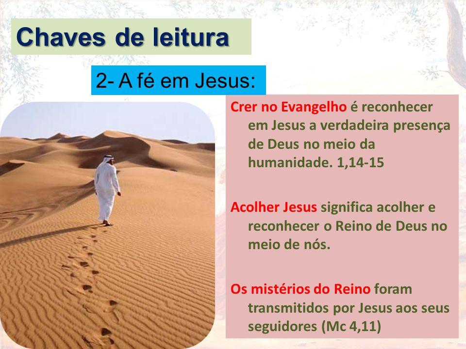 Chaves de leitura 2- A fé em Jesus: