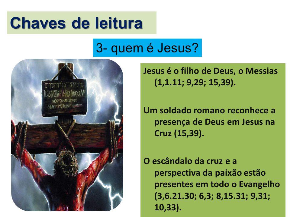 Chaves de leitura 3- quem é Jesus