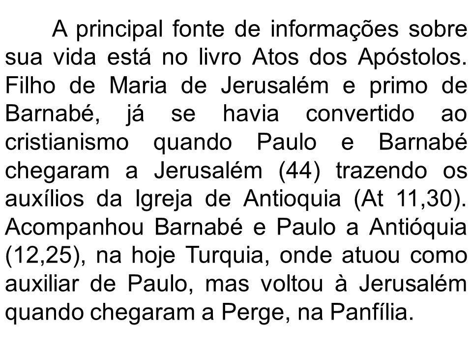 A principal fonte de informações sobre sua vida está no livro Atos dos Apóstolos.