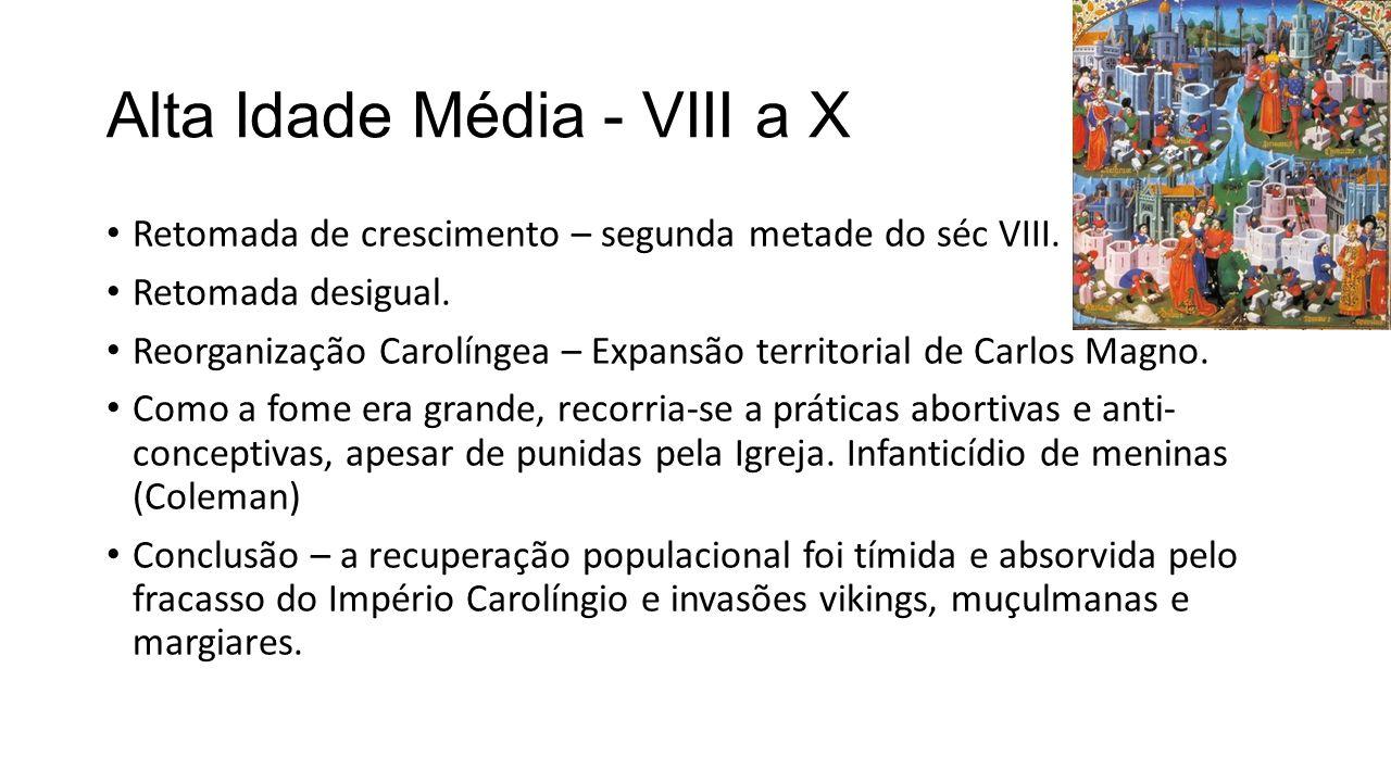 Alta Idade Média - VIII a X