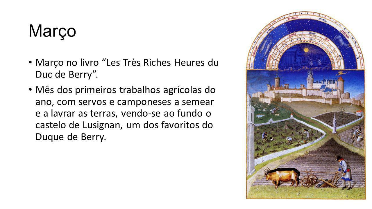 Março Março no livro Les Très Riches Heures du Duc de Berry .