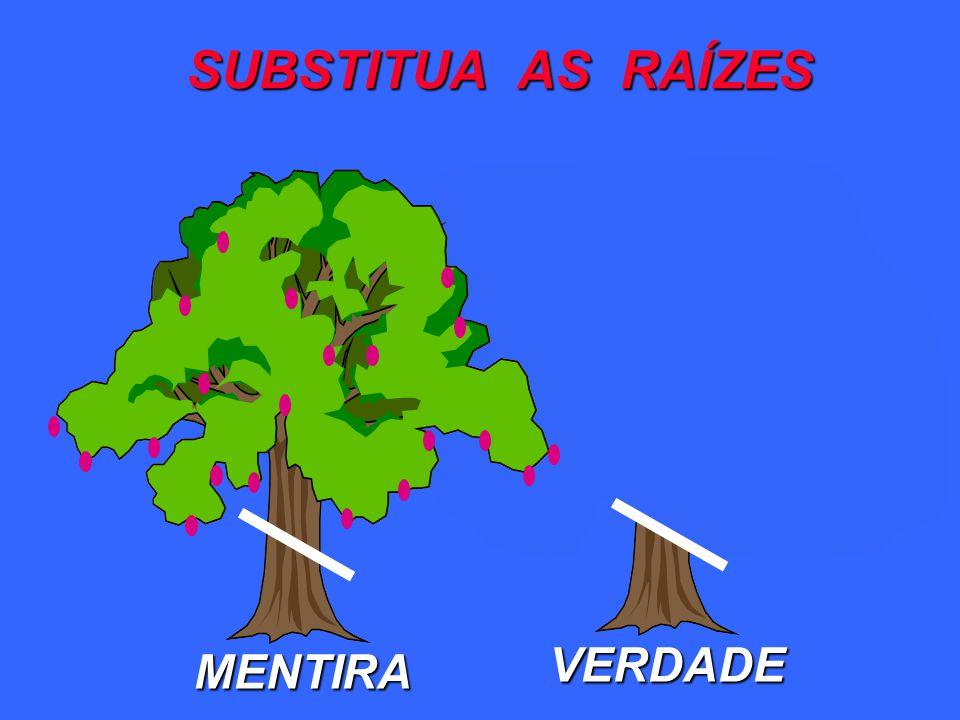 VERDADE SUBSTITUA AS RAÍZES MENTIRA
