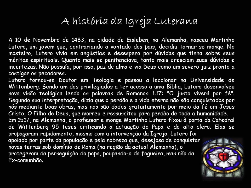 A história da Igreja Luterana